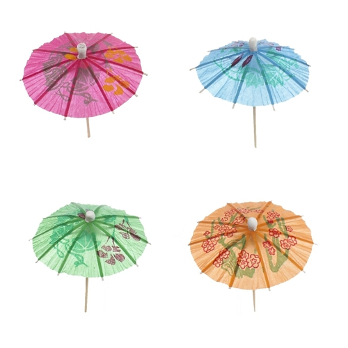 Как сделать из бумаги зонтик для коктейля своими руками